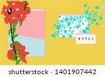 pastel tropical flowers in... | Shutterstock .eps vector #1401907442