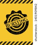 bursting grunge black emblem...   Shutterstock .eps vector #1401909842