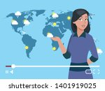 woman anchorman weather channel ... | Shutterstock .eps vector #1401919025
