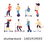 people riding skateboard. man... | Shutterstock .eps vector #1401919055