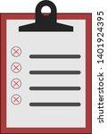 flat illustration of clipboard... | Shutterstock .eps vector #1401924395