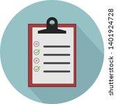 flat illustration of clipboard... | Shutterstock .eps vector #1401924728