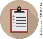 flat illustration of clipboard... | Shutterstock .eps vector #1401925115