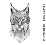 black ink tattoo composition....   Shutterstock . vector #1401932468