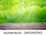 wooden table on a background of ... | Shutterstock . vector #1401945542
