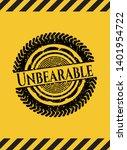 unbearable grunge warning sign...   Shutterstock .eps vector #1401954722