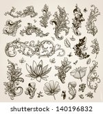 vector set  vintage... | Shutterstock .eps vector #140196832