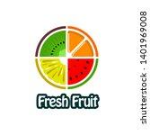 fresh fruit juice logo vector  | Shutterstock .eps vector #1401969008