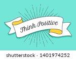 think positive. vintage trendy... | Shutterstock .eps vector #1401974252