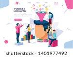 e business buyer  market... | Shutterstock .eps vector #1401977492