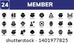 member icon set. 24 filled... | Shutterstock .eps vector #1401977825