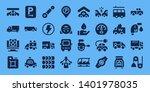 auto icon set. 32 filled auto...   Shutterstock .eps vector #1401978035