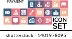 payment icon set. 19 filled...   Shutterstock .eps vector #1401978095