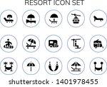 resort icon set. 15 filled... | Shutterstock .eps vector #1401978455