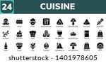 cuisine icon set. 24 filled... | Shutterstock .eps vector #1401978605