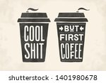 cup of coffee. poster coffee...   Shutterstock .eps vector #1401980678