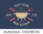 label or logo for restaurant.... | Shutterstock .eps vector #1401980765