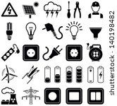electricity icon collection  ... | Shutterstock .eps vector #140198482