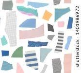 artistic seamless pattern. hand ... | Shutterstock . vector #1401986972