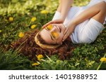 flat lay  top view portrait of... | Shutterstock . vector #1401988952