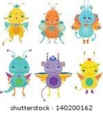 cute little monsters | Shutterstock .eps vector #140200162