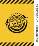 blast off black grunge emblem...   Shutterstock .eps vector #1402018952