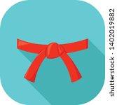 red belt rank martial arts... | Shutterstock .eps vector #1402019882
