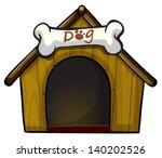 Illustration Of A Dog House...