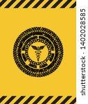 caduceus medical icon grunge...   Shutterstock .eps vector #1402028585