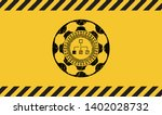 flowchart icon inside warning...   Shutterstock .eps vector #1402028732