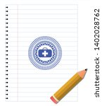 medical briefcase icon drawn... | Shutterstock .eps vector #1402028762
