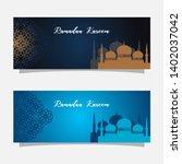religion muslim celebration....   Shutterstock .eps vector #1402037042