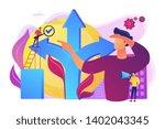 career opportunity. life... | Shutterstock .eps vector #1402043345