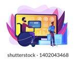 handicapped man in wheelchair....   Shutterstock .eps vector #1402043468