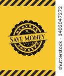 save money grunge warning sign...   Shutterstock .eps vector #1402047272