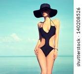 Sensual Girl On Beach