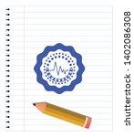 electrocardiogram icon emblem... | Shutterstock .eps vector #1402086308