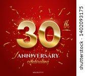 30 golden numbers and... | Shutterstock .eps vector #1402093175