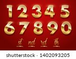 birthday golden numbers and... | Shutterstock .eps vector #1402093205