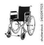 New Modern Empty Wheelchair On...