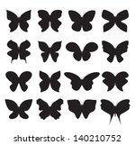 butterfly collection | Shutterstock .eps vector #140210752