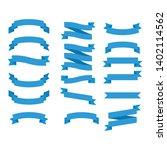 flat vector ribbons banners... | Shutterstock .eps vector #1402114562
