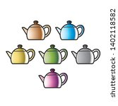 colorful teapot variations...   Shutterstock . vector #1402118582
