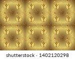 seamless golden texture curls.... | Shutterstock . vector #1402120298
