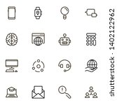 online consultation ine icon... | Shutterstock .eps vector #1402122962