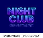 vector glossy sign night club.... | Shutterstock .eps vector #1402122965