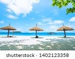 nyaung oo phee beach. summer... | Shutterstock . vector #1402123358
