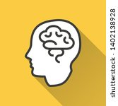 brain vector icon with long... | Shutterstock .eps vector #1402138928