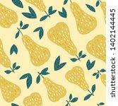 tasty pears seamless pattern on ... | Shutterstock .eps vector #1402144445