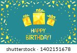 happy birthday  greeting card.  ... | Shutterstock . vector #1402151678